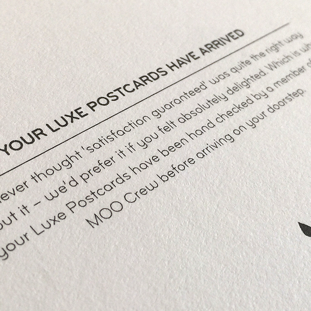 Moo Cards - Your luxe postcards have arrived