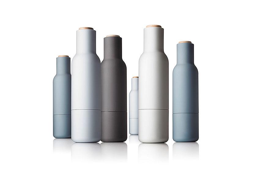 De Peper- en zoutmolen 'Bottle Grinder' van MENU in allerlei kleurenopStyling Blog - Design, Interieur & Mode - Stylist Janette van Tol