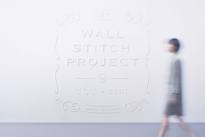 Wall Stitch  - 3D printing voor muren door Japanse Design Studio YOY  en K's Design Lab 1
