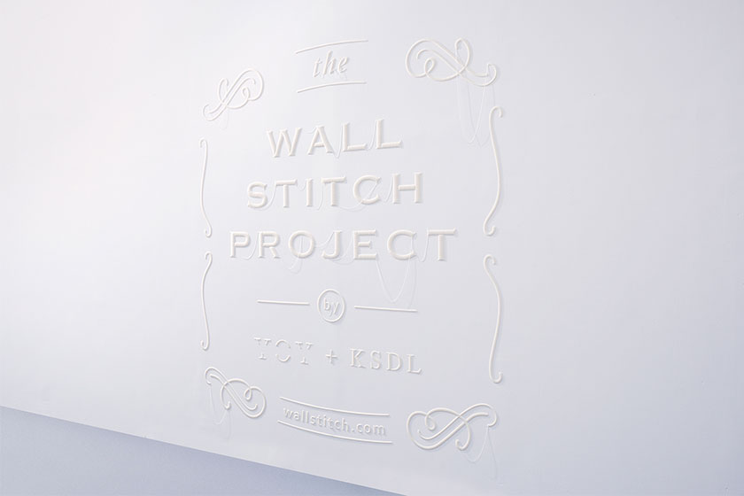 Wall Stitch  - 3D printing voor muren door Japanse Design Studio YOY  en K's Design Lab 2
