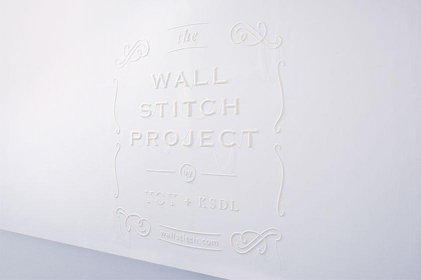 Wall Stitch  - 3D printing voor muren door Japanse Design Studio YOY en K's Design Lab 2