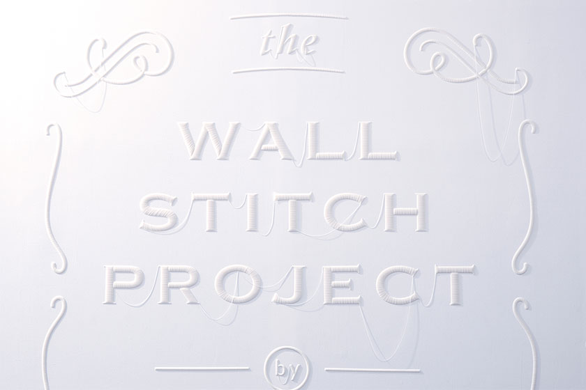 Wall Stitch  - 3D printing voor muren door Japanse Design Studio YOY  en K's Design Lab 3