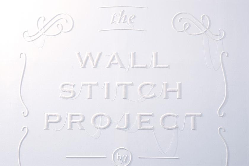 Wall Stitch  - 3D printing voor muren door Japanse Design Studio YOY en K's Design Lab 3