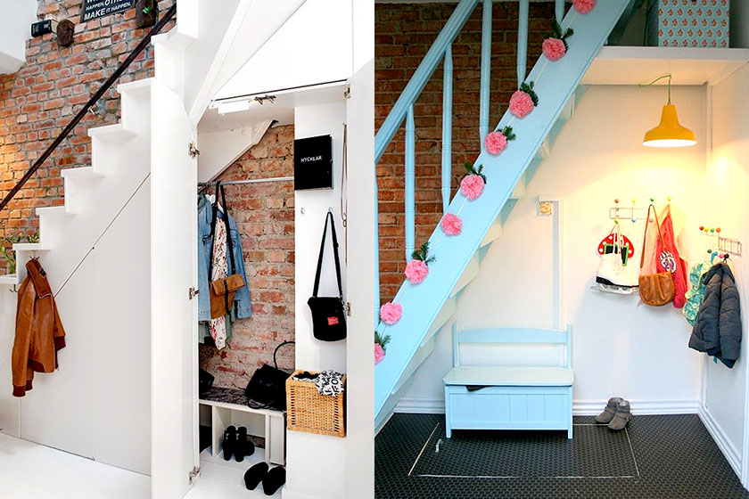 Vijf idee n om de ruimte onder je trap nog beter te benutten interieur design weblog stylingblog - Ingang huis idee ...