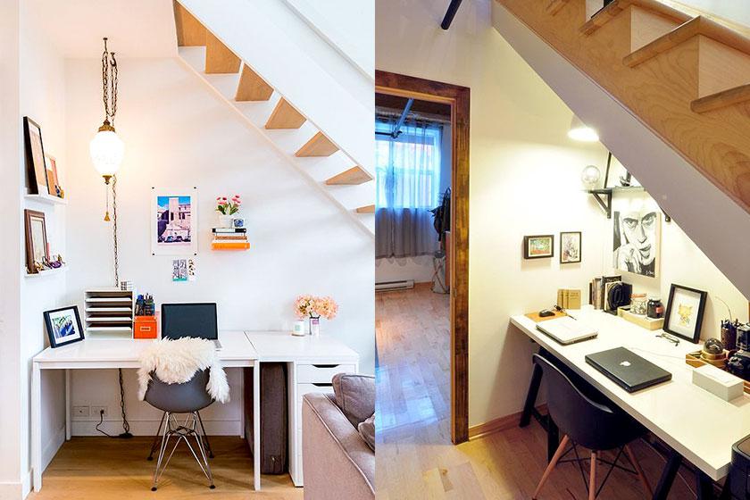Vijf idee n om de ruimte onder je trap nog beter te for Kantoor interieur ideeen