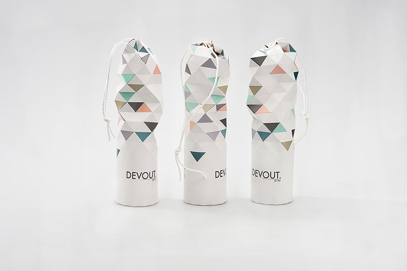 Concept ontwerp verpakking Devout champagne door de Zweedse studenten Sjostedt en Van Wolferen
