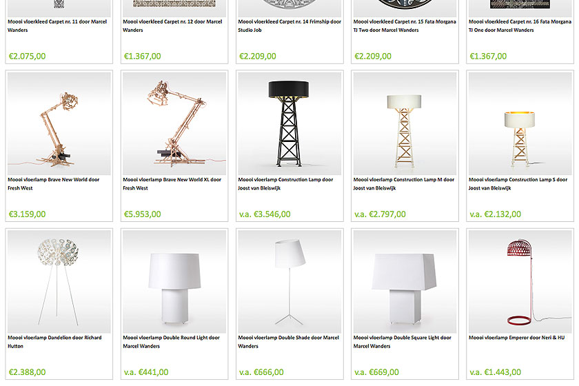 Bestel je Moooi lampen, verlichting, meubels en woonaccessoires bij Designshops.