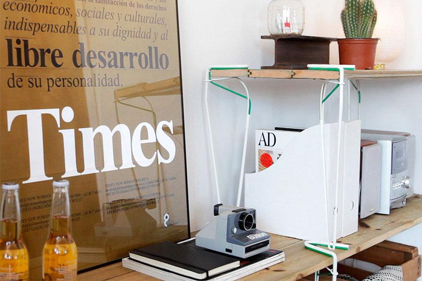 SNAP - Een losse stalen tafelpoot met elastische klem  - Tovert bijna elk voorwerp om tot tafel of bank 5