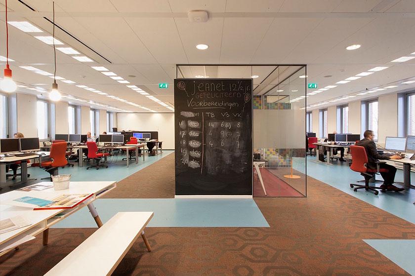Het Nieuwe Werken- Ruime en open, flexibele werkplekken