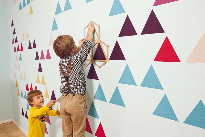 Het ZNAK Mosaic behang .Binnen no-time een uniek patroon op jouw muur.