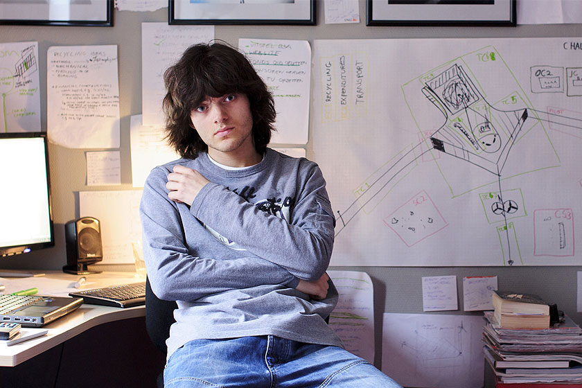 Boyan Slat . De21-jarige CEO van The Ocean Cleanup. Een Delftse onderneming die een manier heeft gevonden om de oceanen zelf het plastic te laten verzamelen.