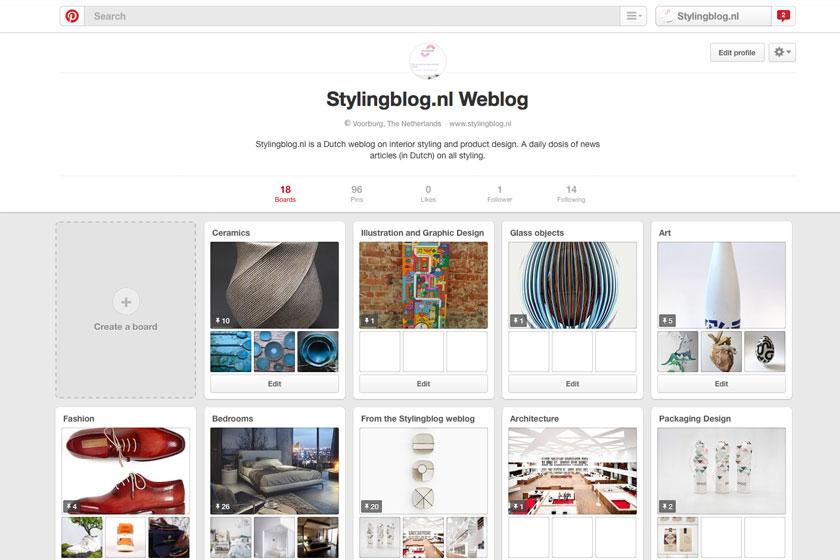 Interieur weblog Stylingblog.nl is eindelijk ook op Pinterest te vinden! Viahttps://www.pinterest.com/stylingblog/