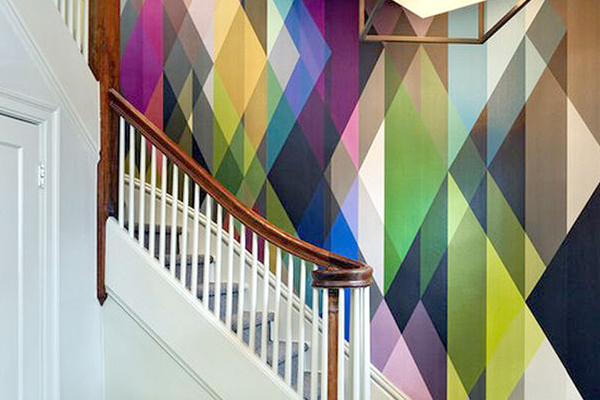 Kleur Ontwerp Muur : Trend: geometrische vormen op de muur - 15 ...