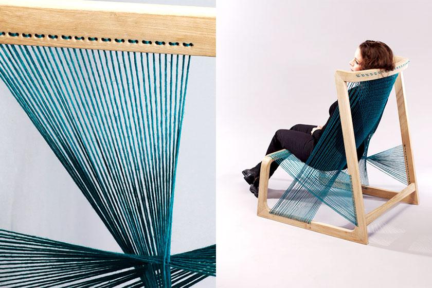 De   Silk Chair van het Zweedse designbureau Alvidesign  . Een retro-gevoel maar wel heel erg milieuvriendelijk.