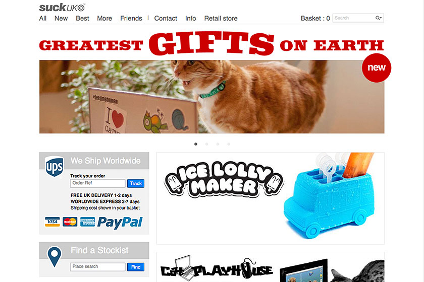 Creatieve cadeau tips voor een verjaardag  of feestdagen zoals Kerst en Sinterklaas vind je bij de Britse webshop Suck.uk.