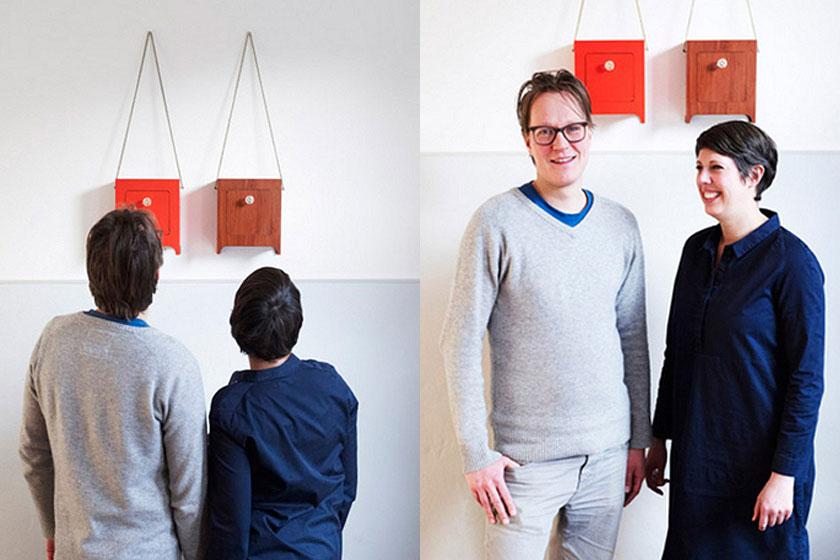 Designers  Sander Lucas  en  Marijke Lucas-Geurts  van designstudio Lucasenlucas.