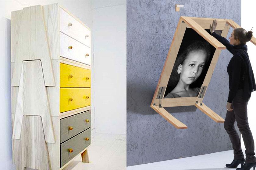 15 slimme tips van interieur stylisten bij de inrichting van kleine interieurs - Deel 1/2 - Opklapbare of stapelbare meubels.