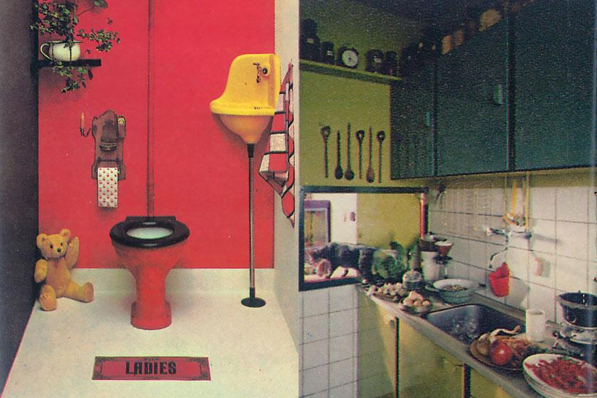 Fantastische retro beeldmateriaal van een Flexa toilet en keuken uit de periode van 1965 - 1975. Flexa viert haar 60-jarig bestaan als verfmerk.