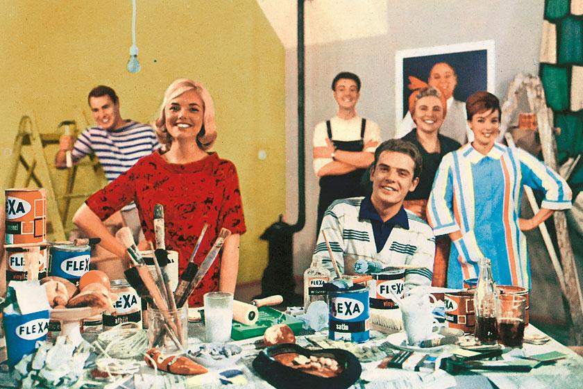 Fantastische retro beeldmateriaal van Flexa uit de periode van 1965 - 1975. Flexa viert haar 60-jarig bestaan als verfmerk.