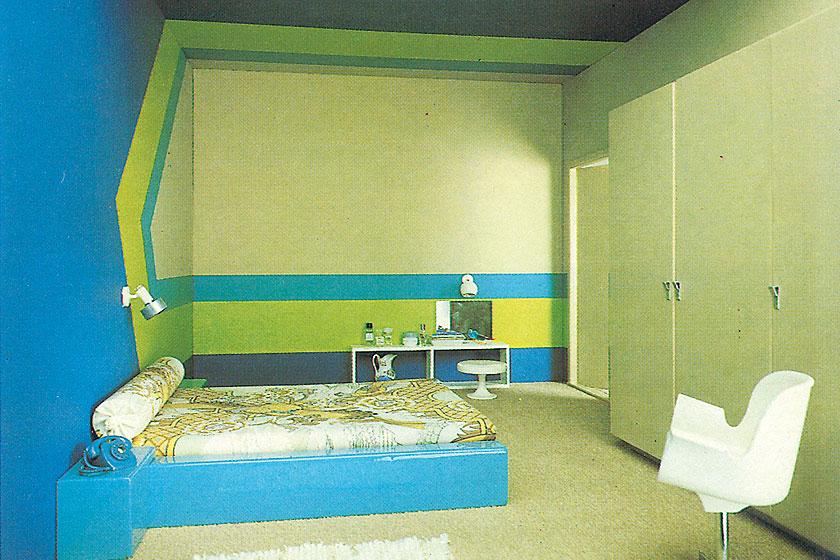 Fantastische retro beeldmateriaal van een Flexa slaapkamer uit de periode van 1975 - 1985. Flexa viert haar 60-jarig bestaan als verfmerk.