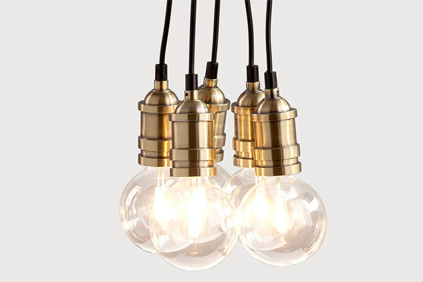 Starkey Cluster hanglamp met industriële look via MADE.COM