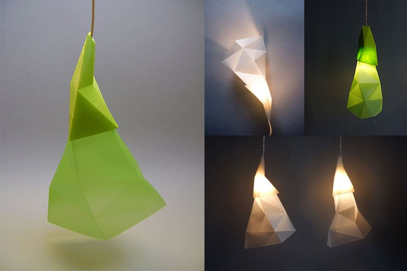 Papero is een hanglamp gemaakt met oa 3D printing technieken