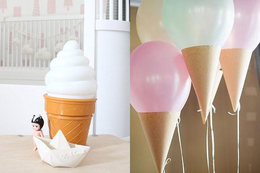 Ijsjes als thema in woning inrichting zijn 'hot'. Verleng de zomer met zonnige ijsjes in je interieur!