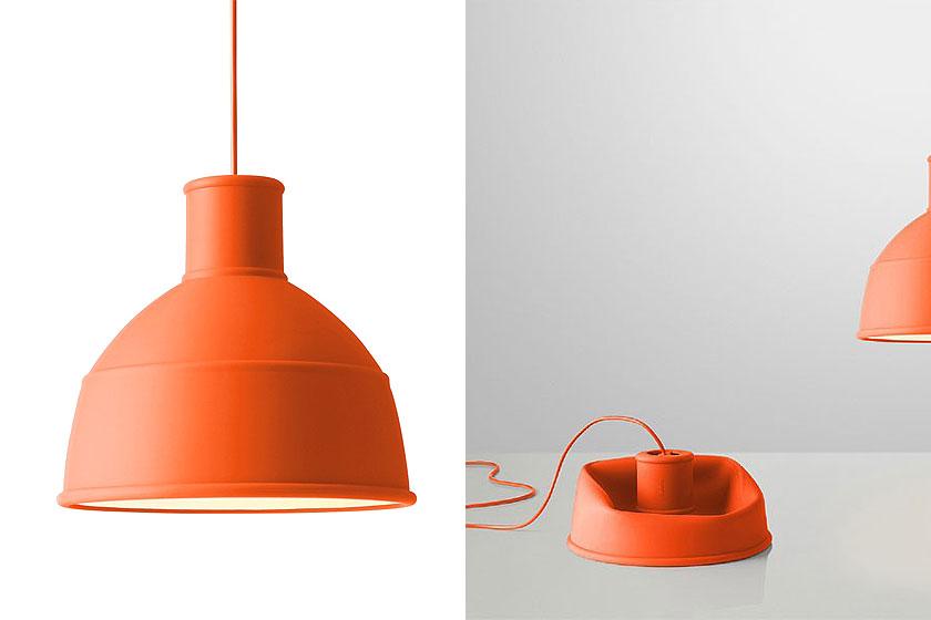 Muuto Unfold hanglamp is een opvouwbare design hanglamp in felle kleuren. Oa. te koop via webshop Flinders.com