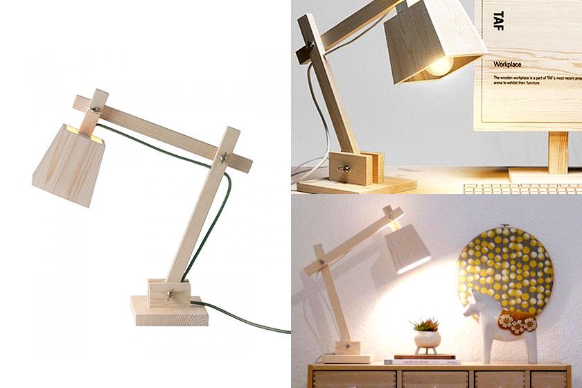 Mute Wood houten tafellamp -Oa te koop via webshop Flinders.com