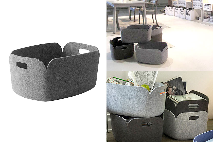 De Restore opbergmand van designer Mika Tolvanen voor Muuto Design oa. te koop via webshop Flinders.com