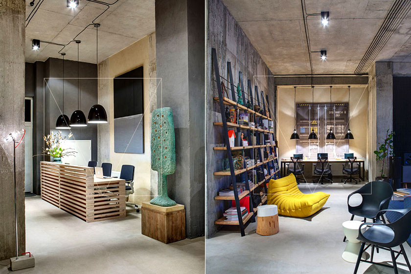 De mooie voorbeelden van een design kantoor perfect full size
