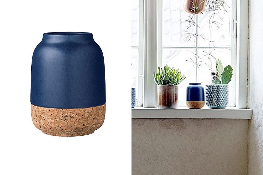 Interieur trend: kurk - 10 voorbeelden van interieur producten zoals deze Bloomingville vaas