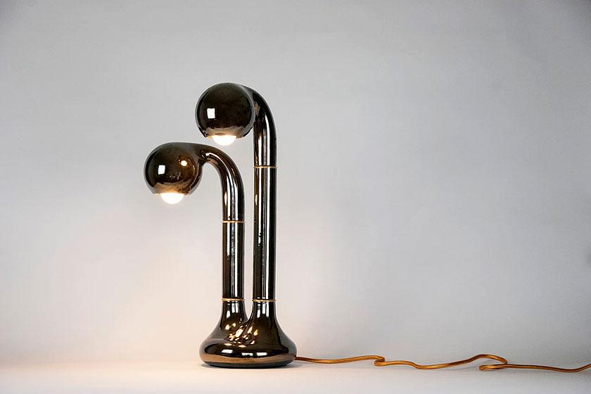Entler keramische lampen door designer Jonathan Entler - verwelkte plant vorm of éénogig monster? - Foto 3