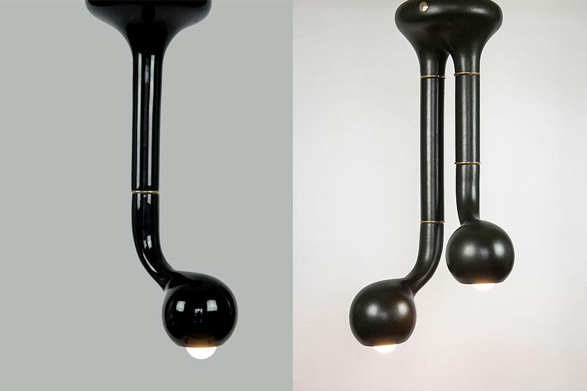 Entler keramische lampen door designer Jonathan Entler - verwelkte plant vorm of éénogig monster? - Foto 9