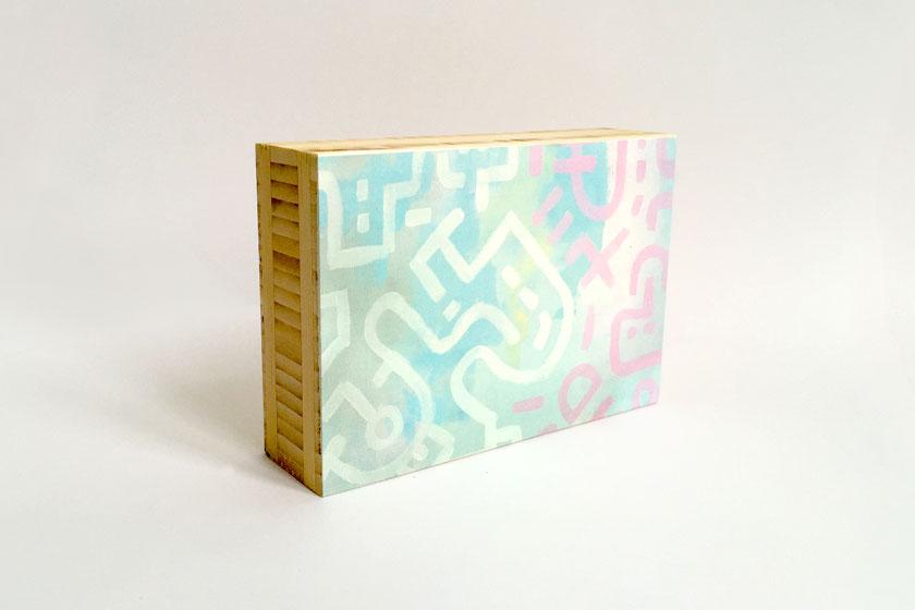 Foto op hout - Hout blokken met print bestellen - Bold Lines kunst art by Dutch artist kunstenaar Mr. Upside - foto 1