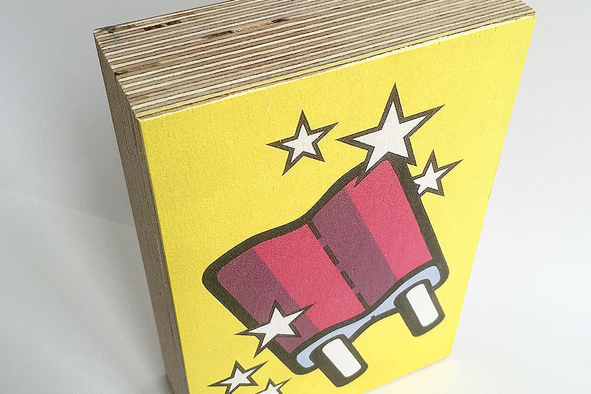 Foto op hout - Hout blokken met print bestellen - Kunst Mr. Upside ijsje icecream 15 x 10 cm - foto 2