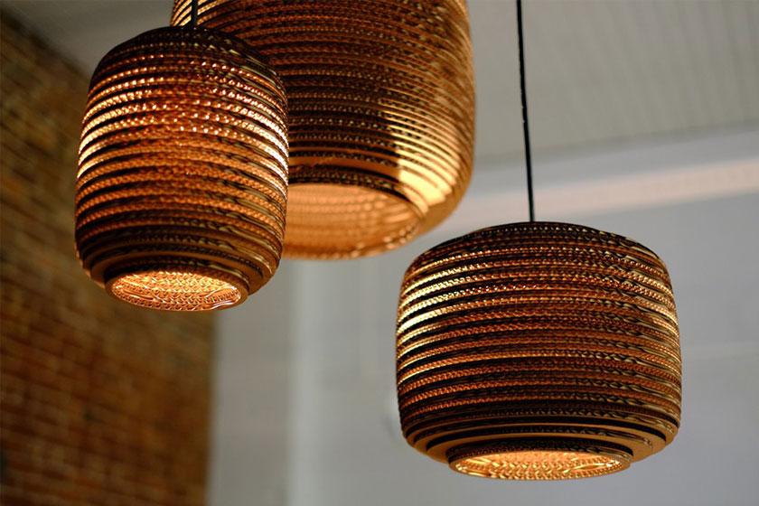 Graypants Scraplights collectie lampen van karton - foto 4 van 10