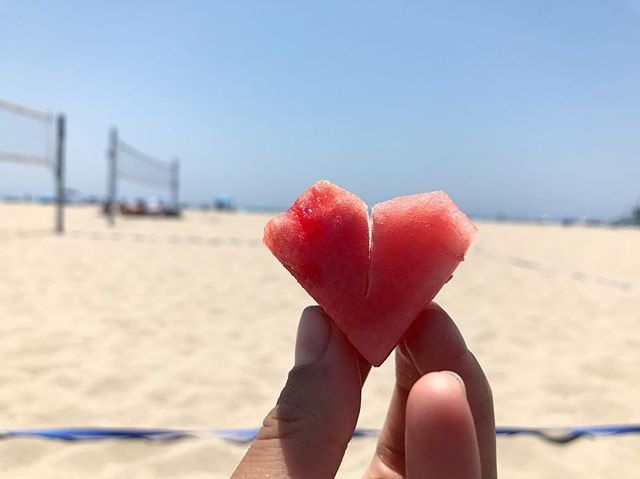 If you look, you'll find love in everything ♥️ #watermelonlove