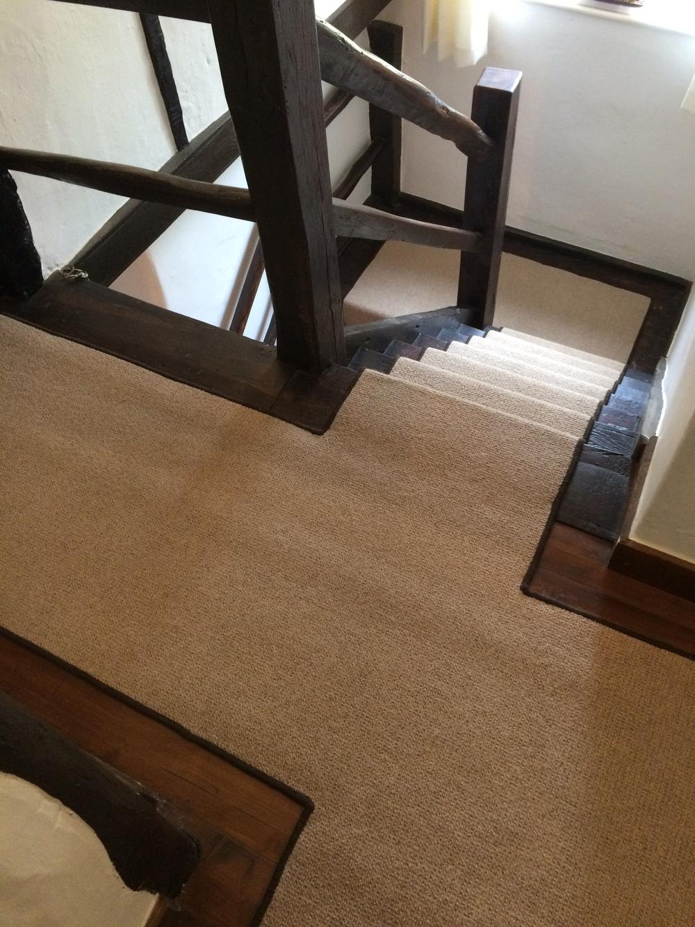 Lawrence Corn beige/brown runner with whipping
