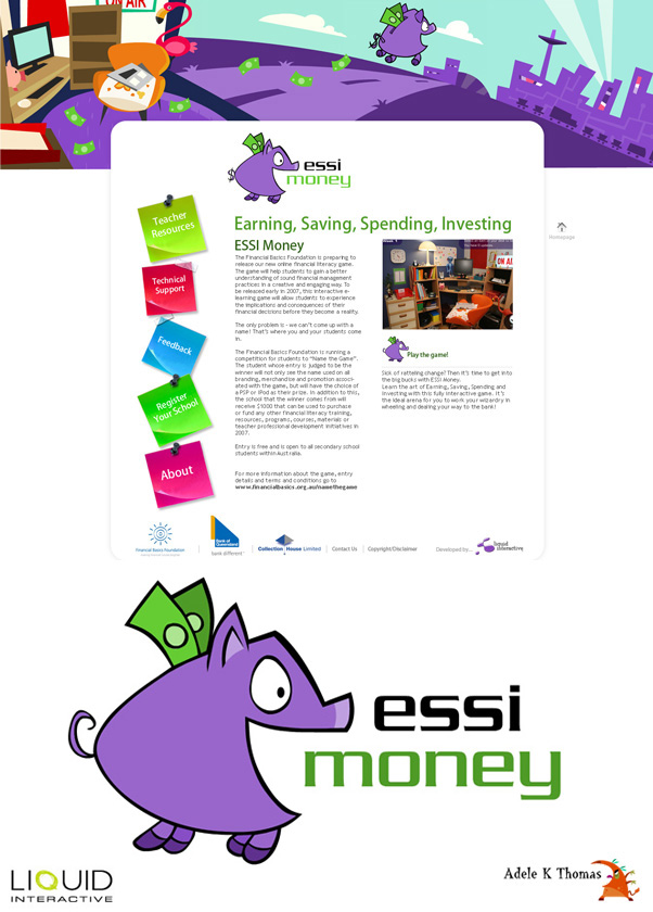 Essi Money : Logo  & banner design : Liquid Interactive