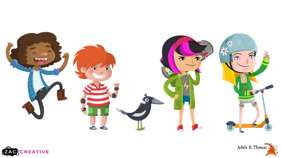 RAC : Character Illustrations : Zac Creative
