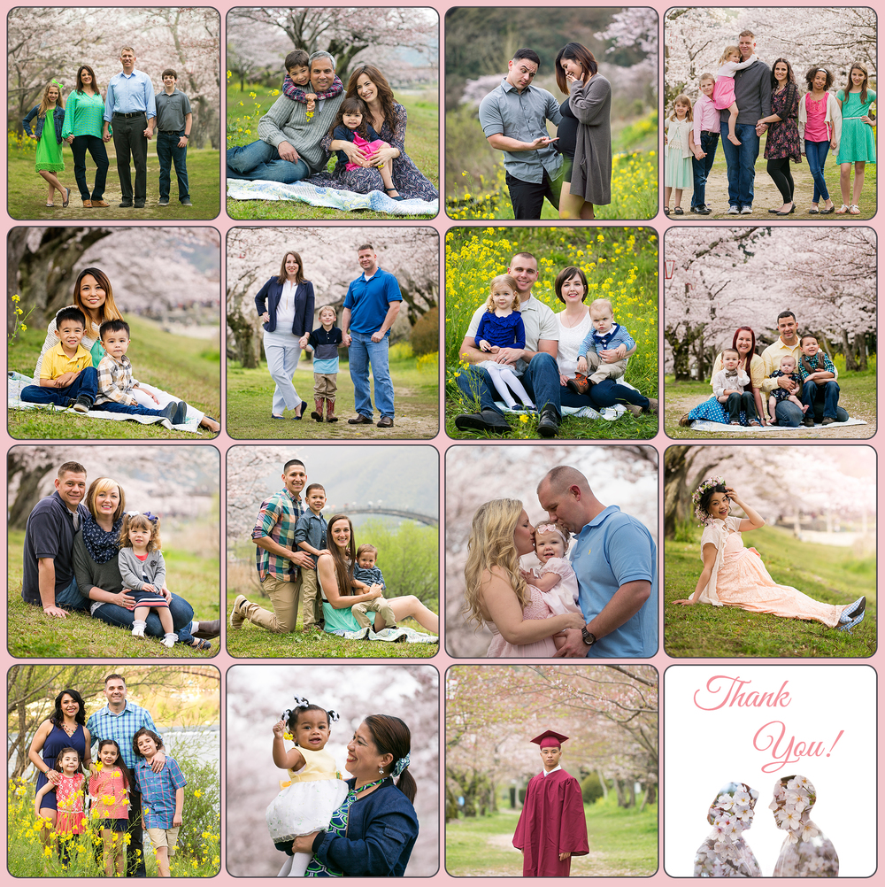 My amazing 15 clients.. plus my own (with my husband) in-camera double exposure picture.