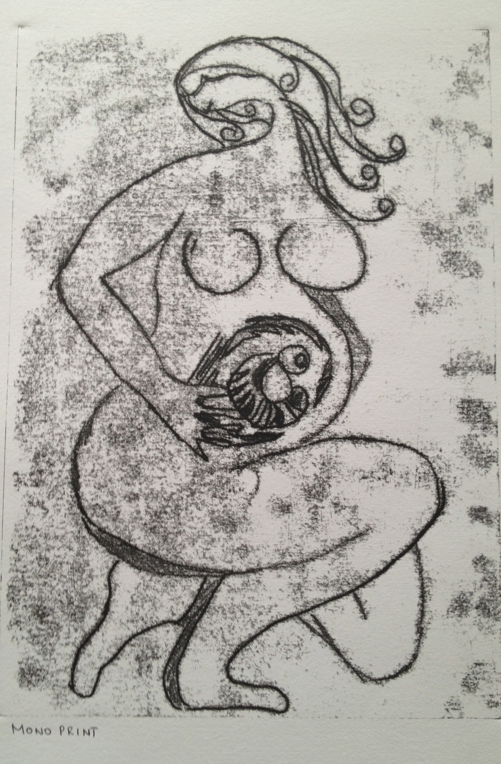Untitled Monoprint 42 x 59.4 cms 2013