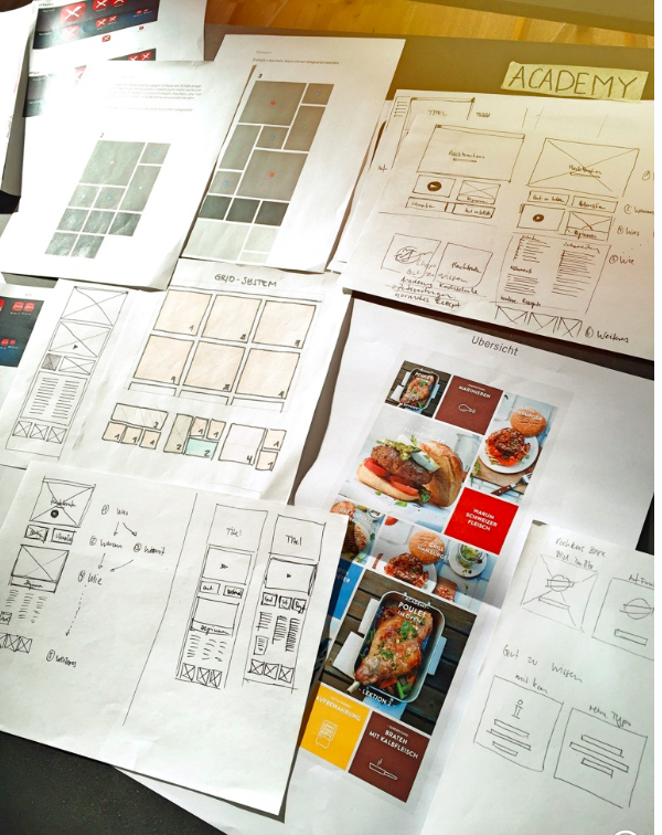 Einblick in die Entwicklung von Konzept & Design