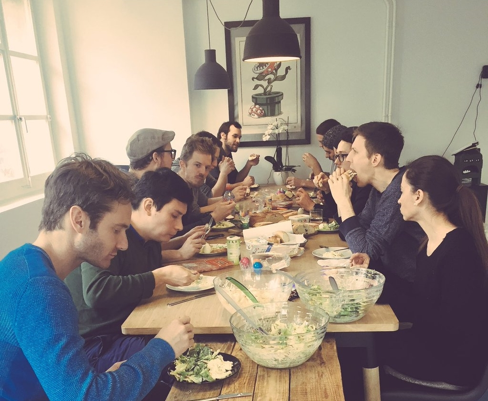 Team Lunch im Apps with love Office