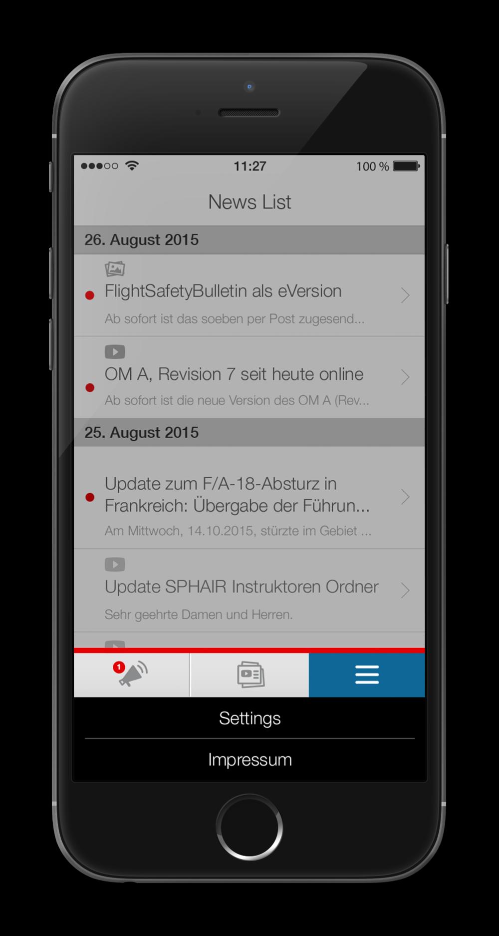 Öffentliche Version der Flight Safety App