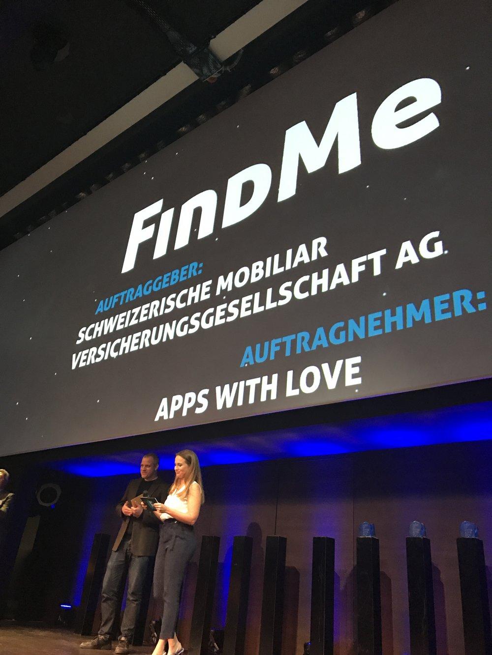 IoT Silber Award für das Leanstartup FindMe von Mobiliar