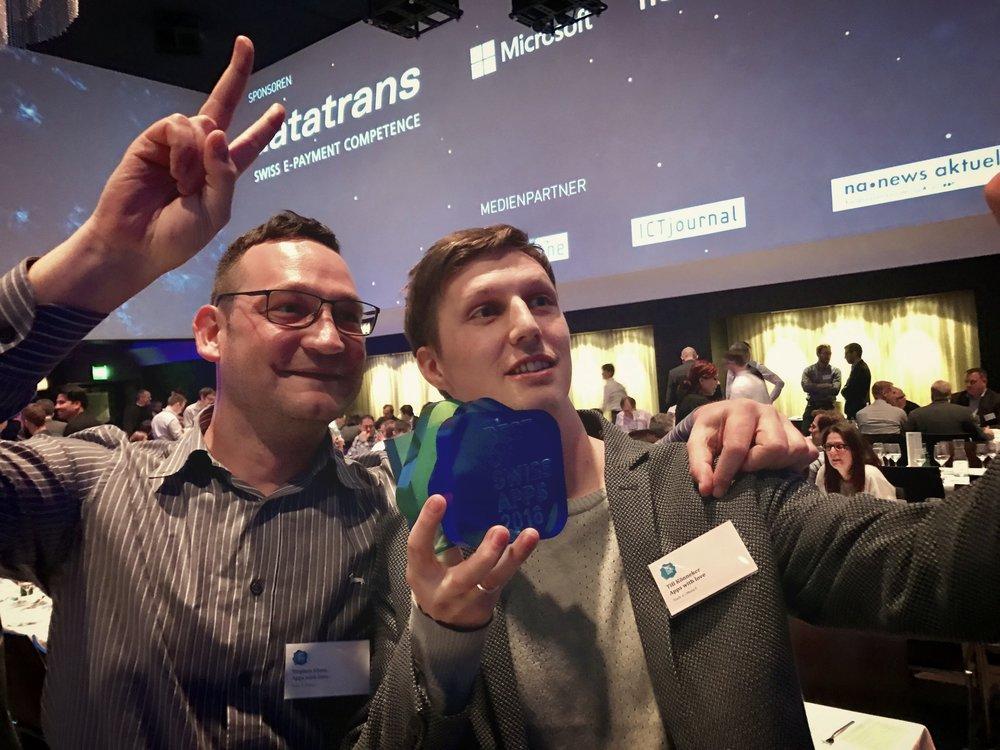 Apps with love Gründer Stephan Klaus und Till Könneker in Feierlaune