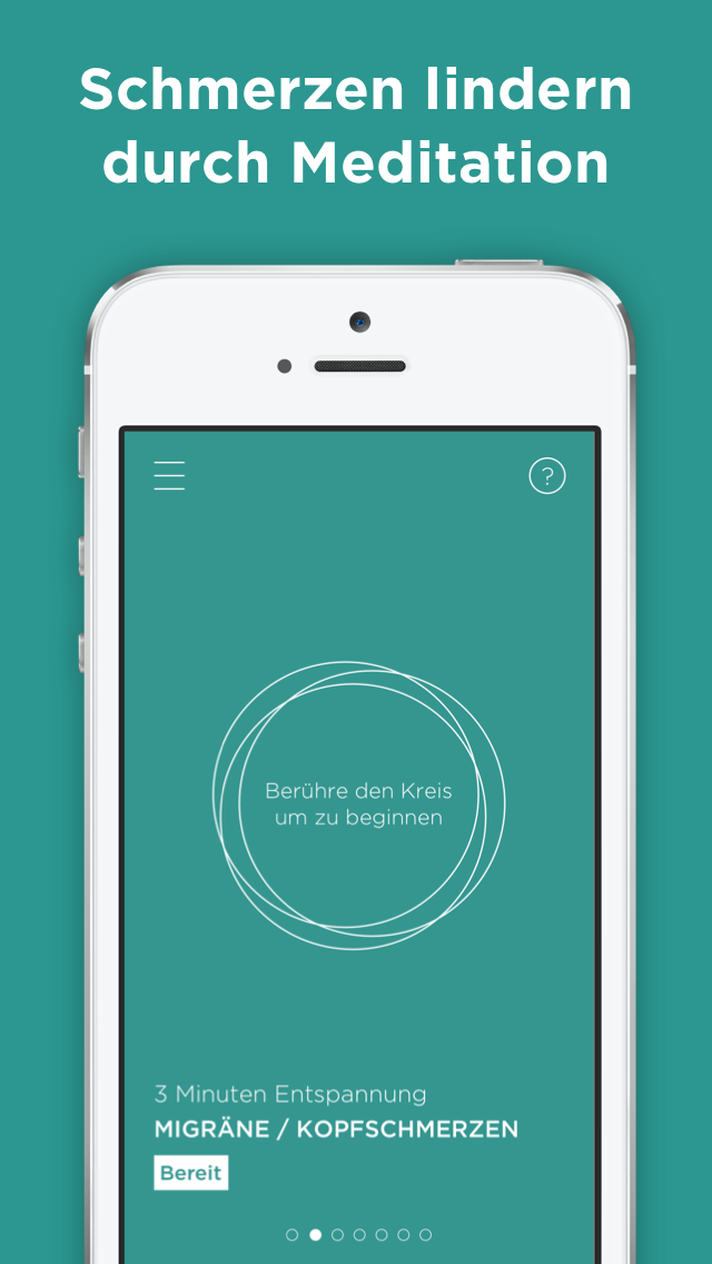 MindPills Relaxation App Screen Design