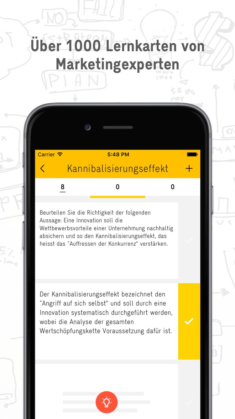 Lernkarten Marketing Experte App